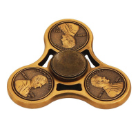 Mini Finger Spinner Tri Faux Cents Coin Hand Spinner Adult Kid Decompression Toy