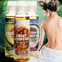 100% Pure Natural Massage Spa Almond Avocado Coconut Essential Oil Cold Pressed Moisturiser Castor Oil Hydrating Hair Care