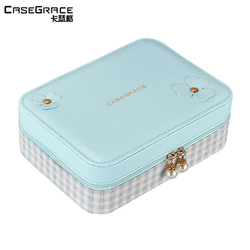 Casegrace women girl earring ring jewelry box organizer bracelet storage cases gift for wife makeup organizer present box 01146