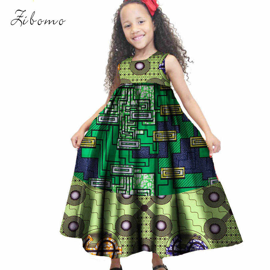 51ff1f1e6f3b ... African dress for kids Children clothing 100% cotton wax fabric print  summer dashiki ankara kids ...
