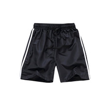 Summer Men's Quick Dry Shorts Casual Men Side Striped Beach Shorts Breathable Trouser Male Shorts Brand Clothing