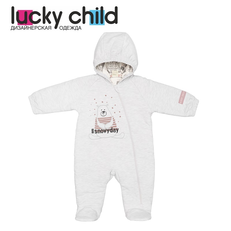 Jumpsuit Lucky Child for girls and boys 62-70f winter holidays Children's clothes kids Rompers for baby new baby rompers winter thick warm baby boy clothing long sleeve hooded jumpsuit kids newborn outwear for 0 36m