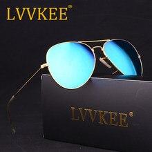 2018 lvvkee clásico gafas de sol de marca de las mujeres de los hombres de la Lente de Cristal Anti-glare caliente 58mm estrella gafas de conducir 3025 UV400