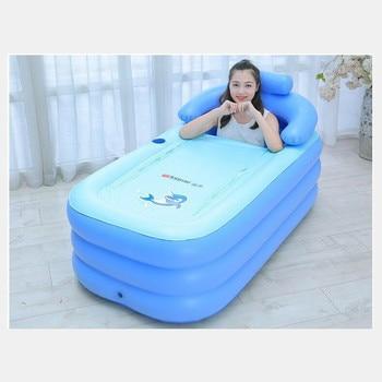 Bañera de plástico portátil para adultos, bañera inflable para adultos, bañera inflable de PVC, bañera plegable para Spa