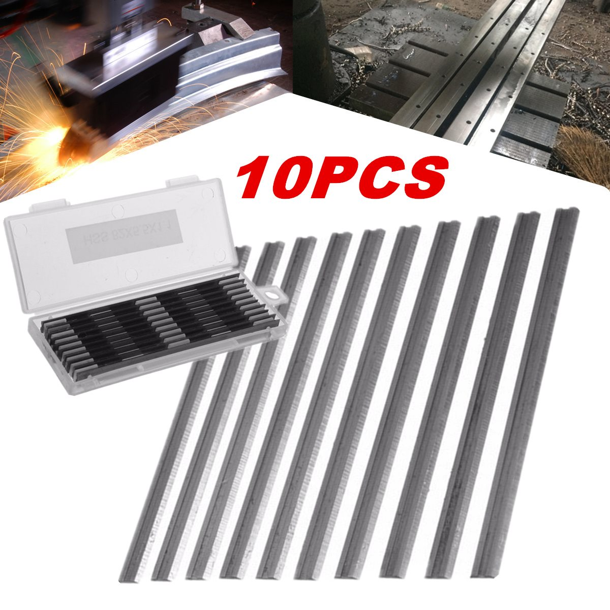 10Pcs 82mm x 5.5mm Reversible Carbide Planer Blades For Cutting Soft Hard Woods Ply-wood Board Woodworking Power Tool10Pcs 82mm x 5.5mm Reversible Carbide Planer Blades For Cutting Soft Hard Woods Ply-wood Board Woodworking Power Tool