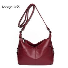 longmiao 2017 New Women Shoulder Bags Hobos Designer Handbags for Women Tote bag Ladies Messenger Bags Bolso Female pouch