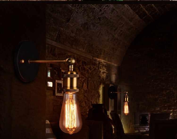 Ретро промышленный Винтаж настенные лампы в американском стиле в стиле кантри настенная свет декоративный светильник для дома E27 wandlamp спальня настенное бра