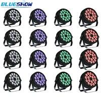 No tax custom 16pcs/lot Disco par light led RGBW 4in1 18x10W Stage lighting DJ slim Par Lights DMX