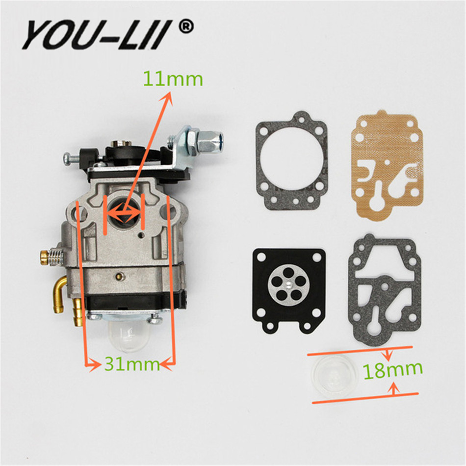 Youlii Carburetor 10mm Carb Kit Walbro Wyj 138 Pmw Part 4088 Fit For Small Engine Fuel Filter Mini Moto 33cc 36cc Kragen Zooma Gas Scooter Pocket Bike In From Automobiles