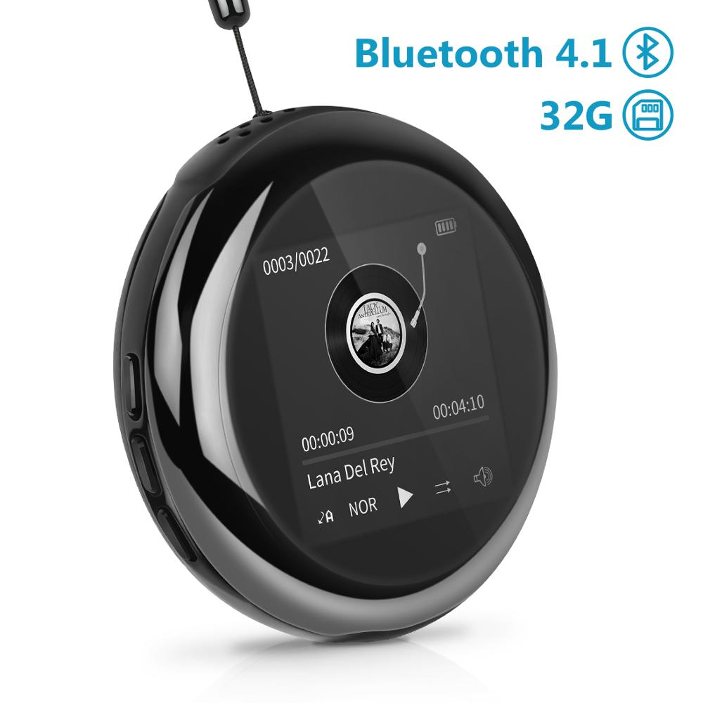 M1 Wireless Metal Bluetooth MP3 Player Portable Audio 32GB Music with Built-in Speaker FM Radio,Recorder,E-Book,Clock