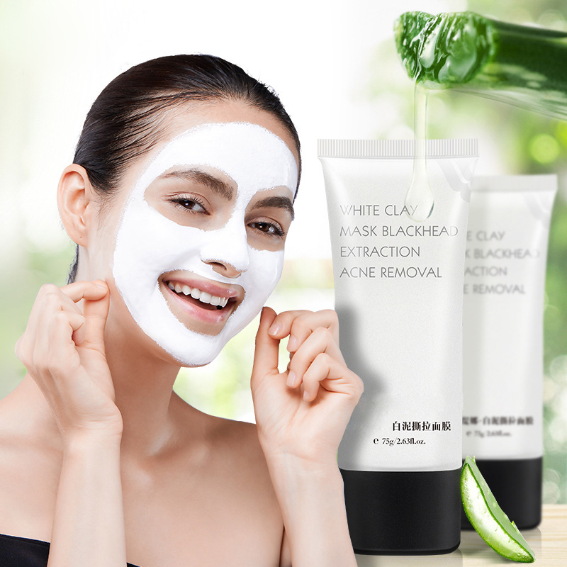 Blackhead Mask Removal Face Mask White Clay Deep Cleansing Blackhead Whitening Cream Acne Treatments Peel Off Mask for the Face nr 100g blackhead mask deep cleansing blackhead pores remover peel off black head acne whitening moisturizing masks skin care
