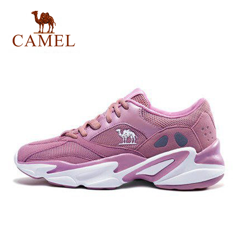 CAMEL Women Running Shoes Sports Fashion Casual Non-slip Wear-resistant Outdoors Sneaker Increasing Sneakers Breathable