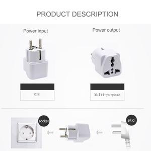 Image 4 - Europäische EU Stecker Adapter Japan China Amerikanischen Universal UK US AU Zu EU AC Travel Power Adapter Konverter Elektrische Ladegerät