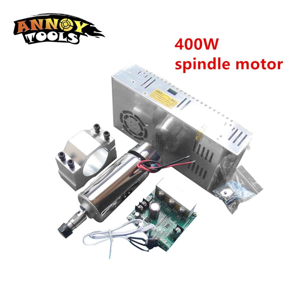 New 400W DC12-48V CNC Air Cooled Spindle Motor+ ER11 chuck+Mach3 Speed Governor Regulator+Mount Bracket Clamp for CNC engraver цена и фото