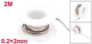 Image 5 - Uxcell 1M 2M Length 0.15mm 0.2mm Thick 0.15x8mm Nichrome Flat Heater Wire For Heating Elements Width 3mm 4mm 6mm 8mm 10mm 12mm