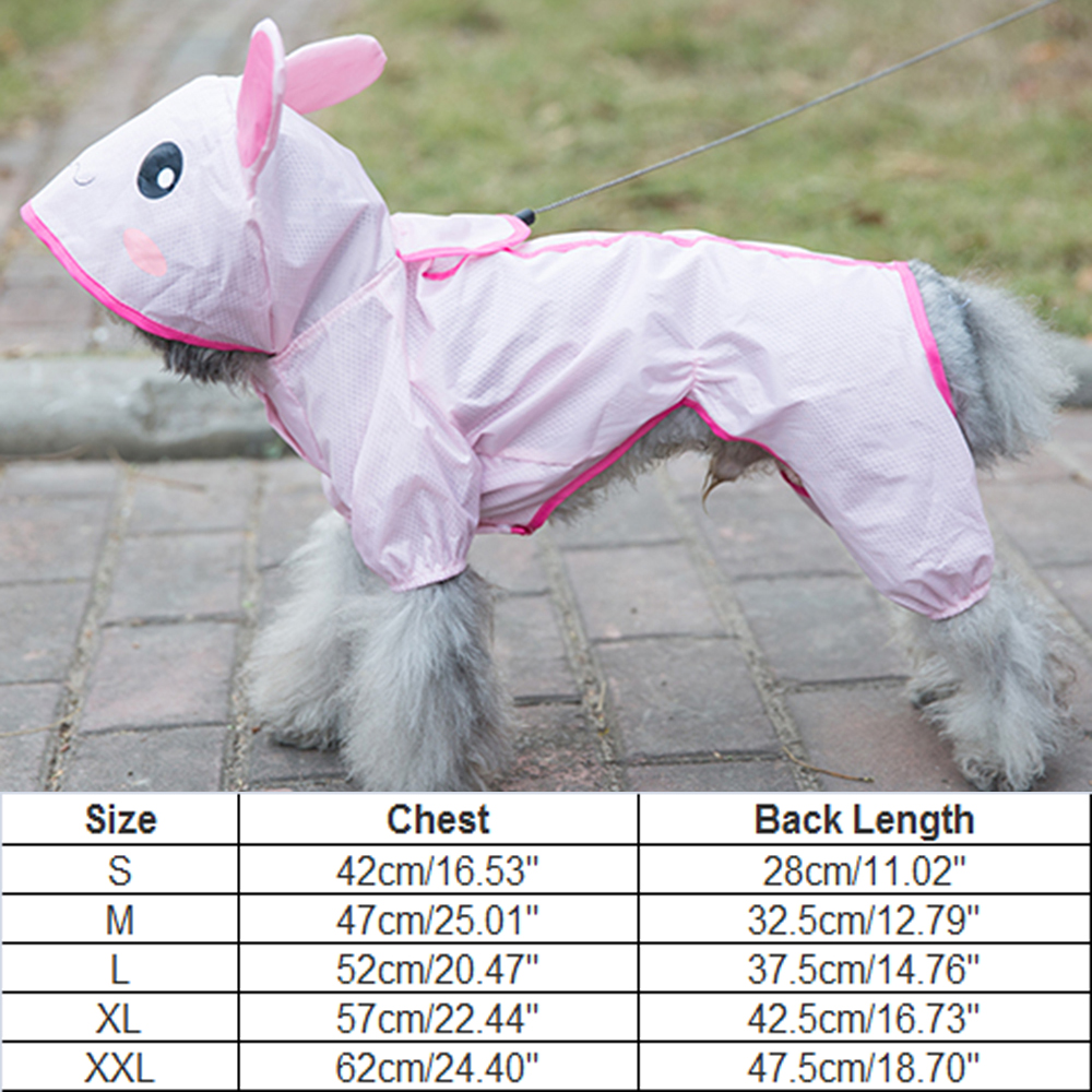 Hipidog Dog Cartoon Raincoat Hoody Slicker Dog Clothes Puppy Waterproof Jacket Overalls for Small Dogs Yorkshire Chihuahua in Dog Raincoats from Home Garden