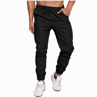 2017 Brand Clothing Men S Slim Fit Elastic Cuff Harem Pants High Quality Cotton Casual Leisure
