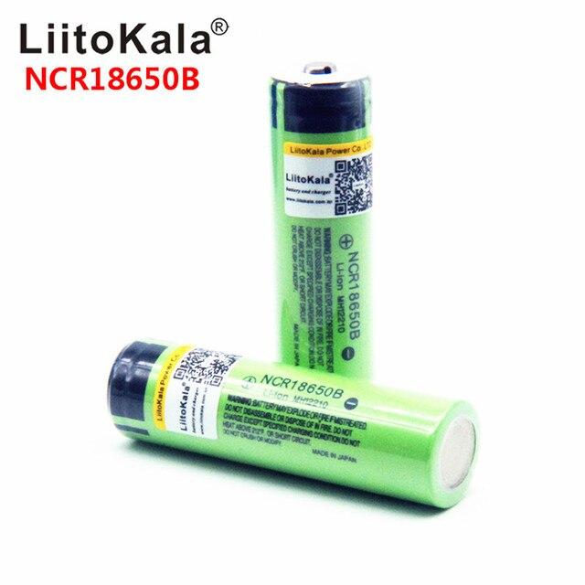2019 LiitoKala 100% Mới Ban Đầu NCR18650B 3.7 V 3400 mAh 18650 Lithium Pin Sạc Cho Đèn Pin pin (KHÔNG PCB)