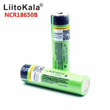 Hot liitokala 100% New Original NCR18650B 3.7 v 3400 mah 18650 Lithium Rechargeable Battery For Flashlight batteries (NO PCB)
