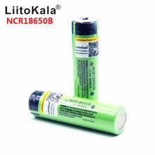 뜨거운 liitokala 100% 새로운 원래 NCR18650B 3.7 v 3400 mah 18650 리튬 충전식 배터리 손전등 배터리 (PCB 없음)