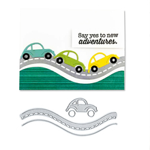 Julyarts Driving Car Cutting Stencils Scrapbooking Dies Metal 2018 Die Cuts for DIY Paper Card Making