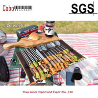 13 Piece Stainless Steel Family Cutlery Picnic Utensil Set with Travel Case for Camping Hiking BBQ Forks Spoons Knifes Chopstick