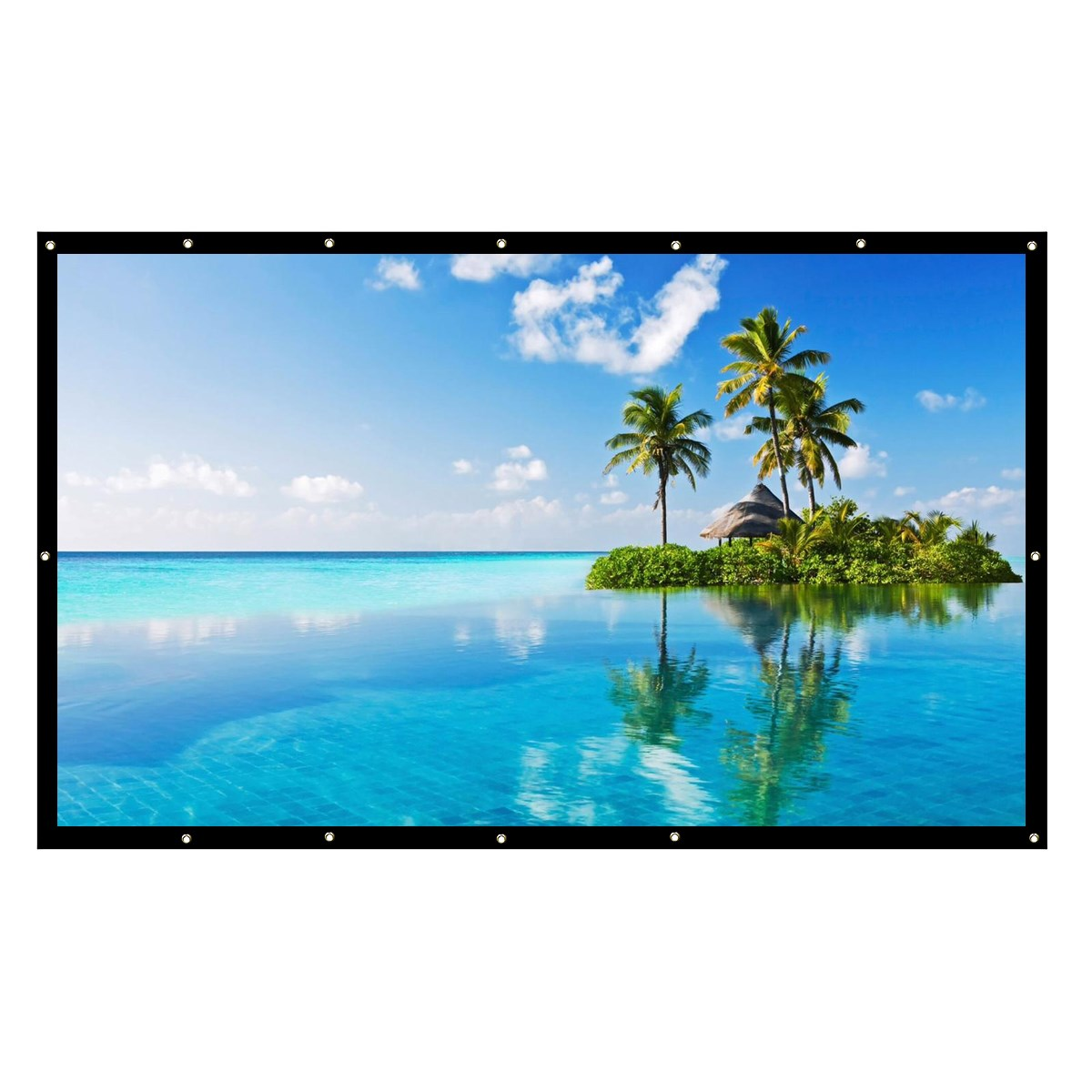 Foldable HD 200 inche Projector Screen 16:9 4:3 Wall Mounted For HD Projector Home Theater Cinema Movies Party newpal 150 inch projector screen 4 3 16 9 foldable projector screen for outdoor and home cinema movies