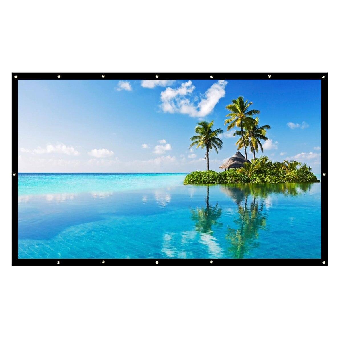 Pliable HD 200 inche projecteur écran 16:9 4:3 fixé au mur pour HD projecteur Home cinéma cinéma films fête