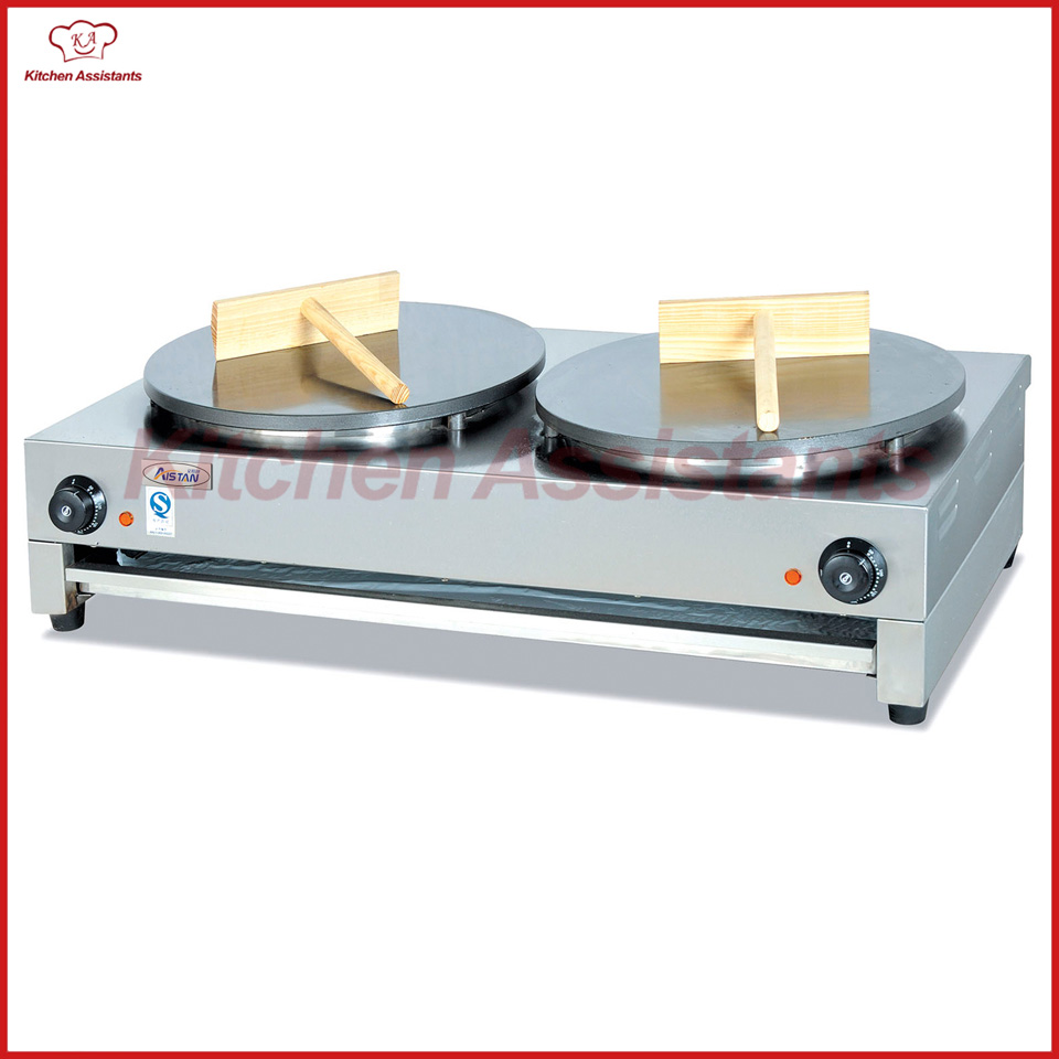 DE2 electric crepe maker cooker griddle machine of snack maker equipment jiqi stainless steel electric crepe maker plate grill crepe grill machine