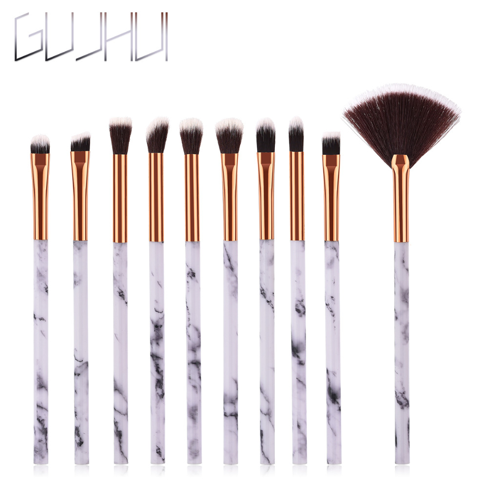 US $0.73 36% OFF|GUJHUI Newest 10/ 4/1pcs Marbling Handle Makeup Brushes Face Eyeshadow Foudation Eye MakeUp Brushes Comestic Pincel Maquiagem  -in Eye Shadow Applicator from Beauty & Health on Aliexpress.com | Alibaba Group