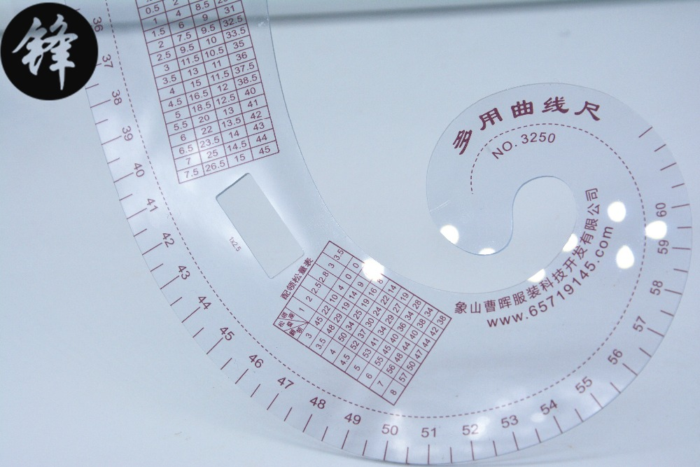 3250 multifunction curve ruler ruler tailoring cutting template foot costume design neckline armhole curve ruler Sewing machie image
