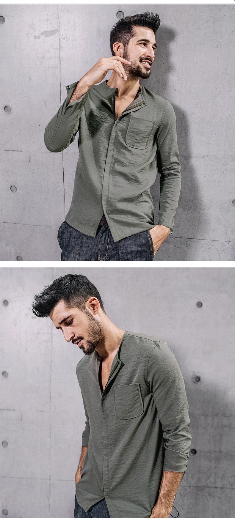 7b8f55b0c05c Kuegou Men s Casual Shirt - Gray Press Apparel
