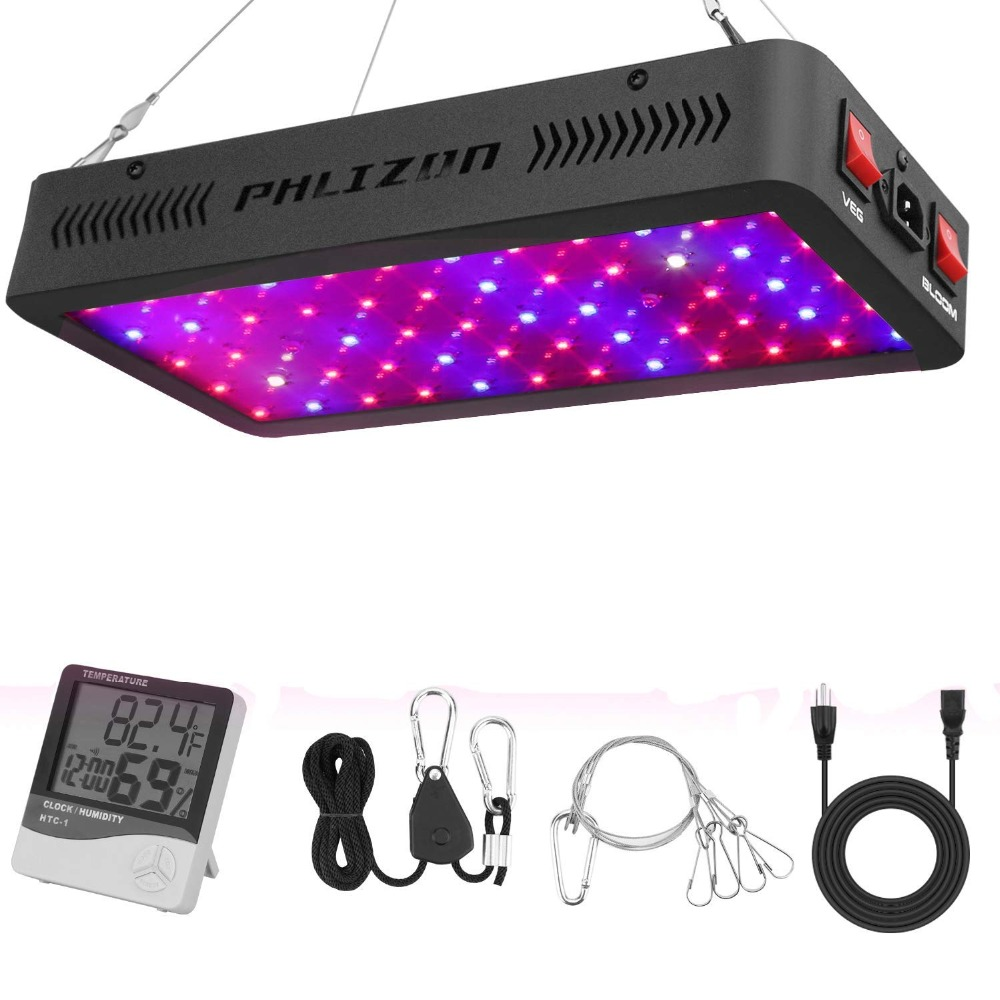 Phlizon 900w Full Spectrum Dual Chip Led Grow Light For Hydroponic Indoor Plants Veg And Flowering With CE,RoHs FCC Cerification