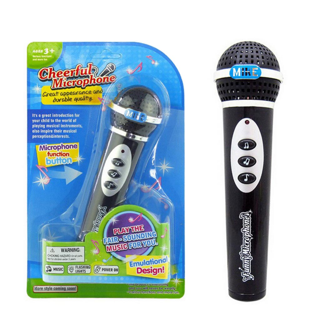 Girls Boys Microphone Mic Karaoke Singing Kid Funny Gift Music Toy children simulation microphone black