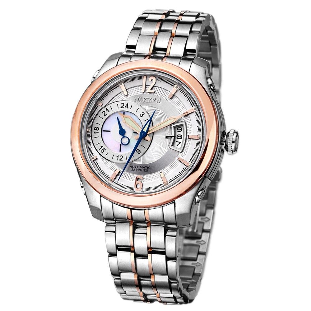 NAKZEN mężczyźni automatyczny ruch Miyota 8217 zegarki mechaniczne mężczyzna marki luksusowe Sapphire wodoodporna stal nierdzewna zegar Relogio Masculino w Zegarki mechaniczne od Zegarki na  Grupa 3