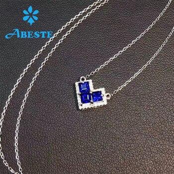 Echte Diamantketten | ANI 18 Karat Solid Weiß Gold Anhänger Halskette SI 0,068 Ct Echt Natürliche Diamant Edlen Schmuck Frauen Engagement Halskette Geburtstag Geschenk