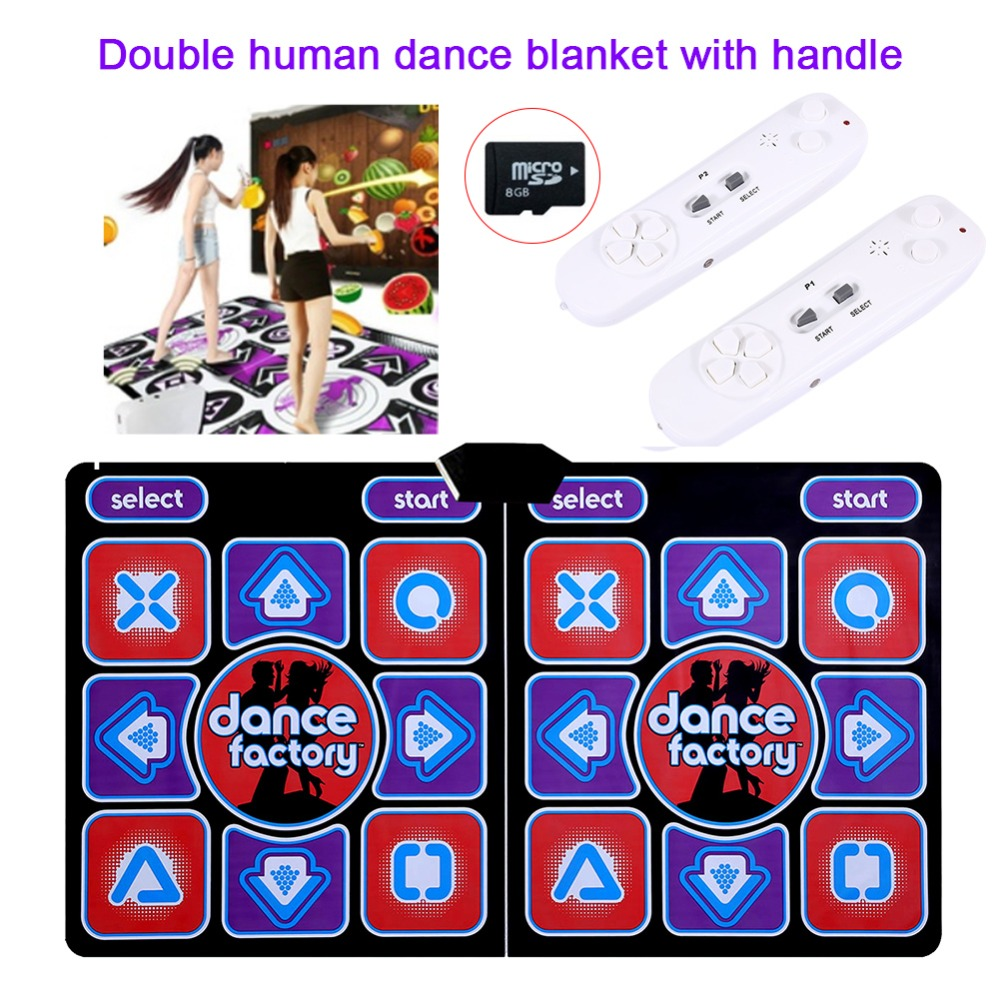 Relefree Double Human Dance Blanket Pads Computer TV Slimming Dancer Blanket Mat Pad With Two Handle