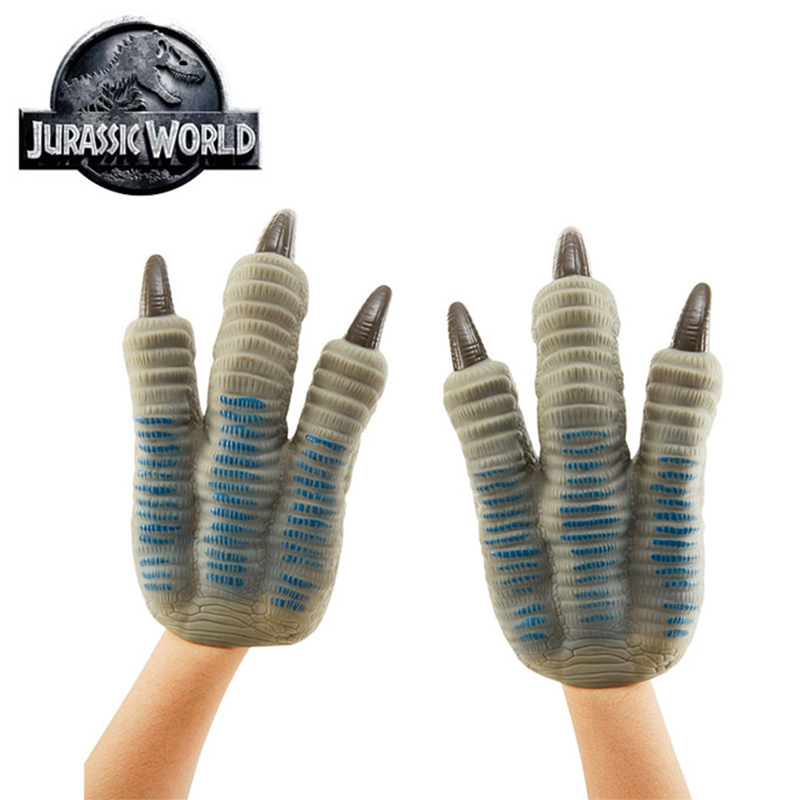 2018 Jurassic World Velociraptor Blue Claws Garras Dinosaur Toys Gloves Cosplay Props Halloween Costumes Toy Fit for kids Adults цена