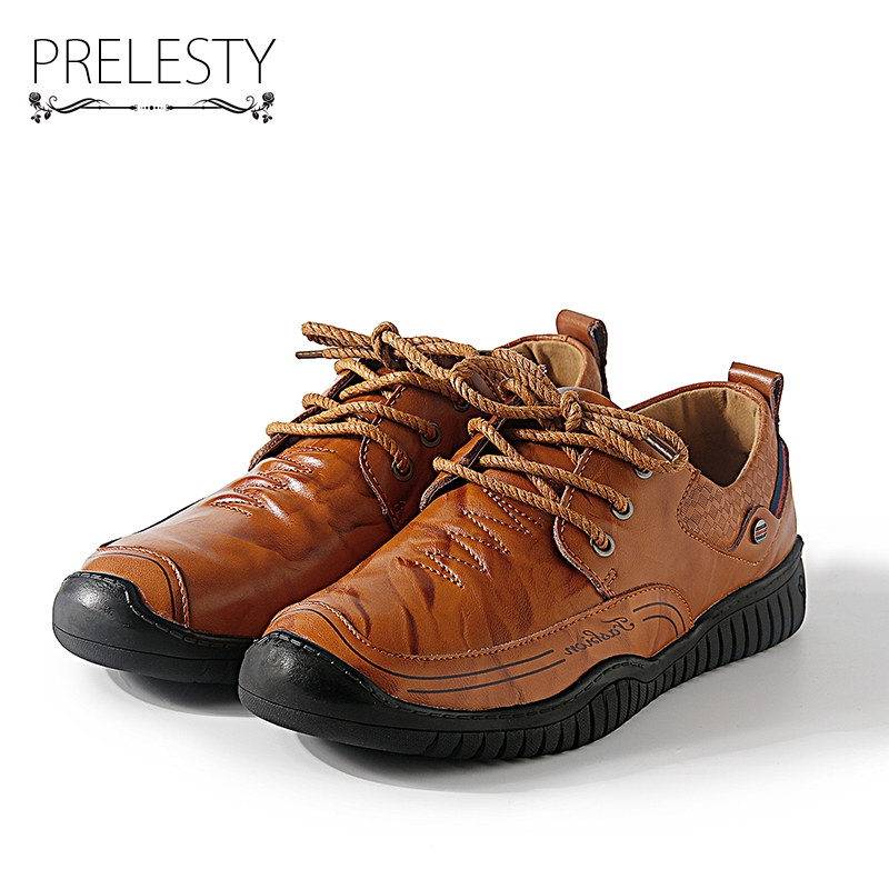 Prelesty Luxury Brand Warm Winter Men Shoes Genuine Leather Fashion Mens Casual Shoes Male Formal Height Increasing
