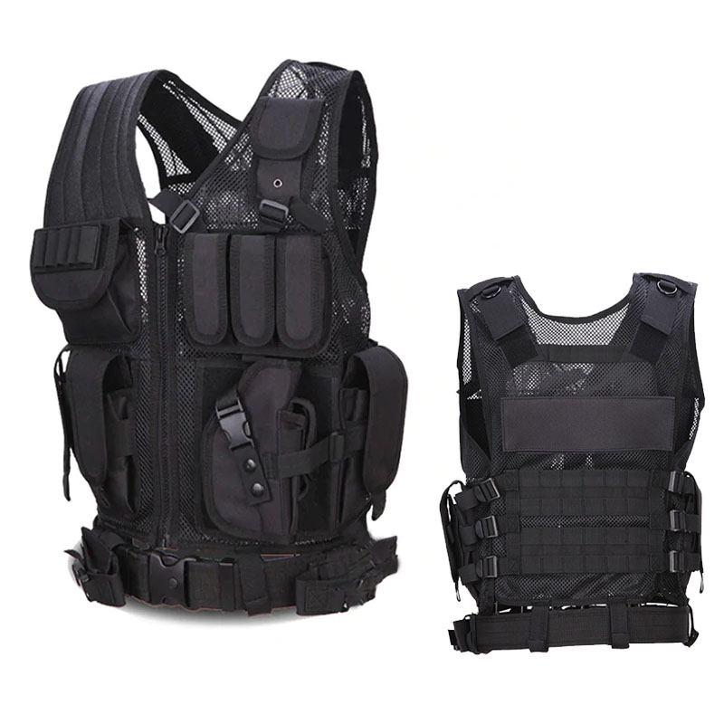 Military Tactical Police Vest Outdoor Hunting Vest CS Gaming Molle Waistcoat Armor Sports Wear Training Paintball