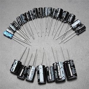Image 4 - 1 uF 2200 uF 25 V/50 V 25Valuesx5Pcs toplam 125 adet elektrolitik kapasitörler çeşitler kiti çeşitli Set