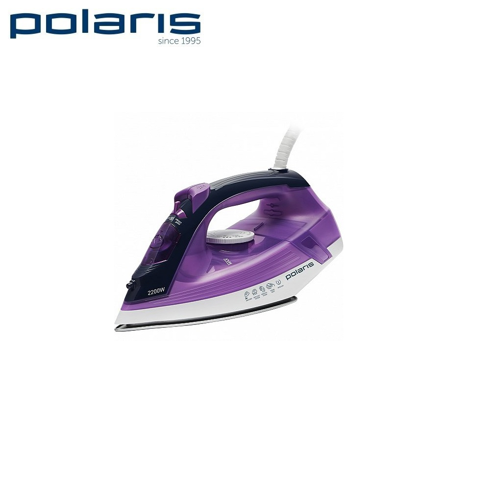 Iron Polaris PIR 2267AK purple  Iron for ironing Mini iron steam iron Steam generator for clothing Irons Electric steamgenerator Small iron electric iron polaris pir 2490ak