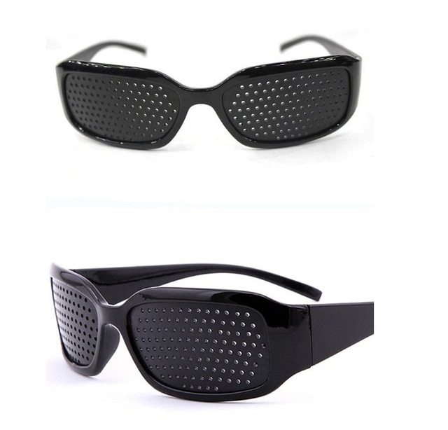 Black Pin Hole Sunglasses Anti Fatigue Vision Care Pin