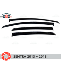 Window deflector for Nissan Sentra 2013 2018 rain deflector dirt protection car styling decoration accessories molding
