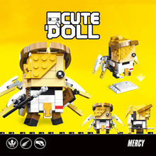 100pcs OverWatches game Cute Doll Mercy Reaper Genji Soldier 76 Model Figure Building Block BrickHeadz Toys Best Gift For kids dowin ow about size 10cm action figure tracer game widow maker d va mei genji hanzo mccree soldier 76 bastion