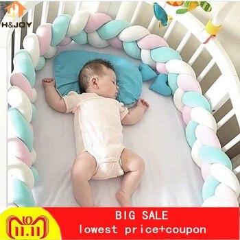2/3M Nordic Longo Atada Trança Travesseiro Nós Algodão Almofada Decorativa Sofá Travesseiro Do Bebê Bumper Protetor de Berço Cama crianças Decoração do Quarto