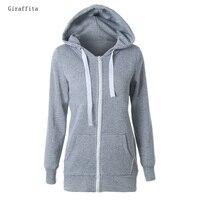 HOT SALE 2017 Giraffita Hoodies Sweatshirt Ladies Women Men Coat Top NEW 2 Colors Unisex Plain