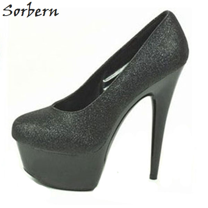 Sorbern Sexy Glitter Women Pumps Slip On Shoes Size 12 Heels Bling Shoes Colorful Club Shoes Luxury Designer Shoes For Ladies 2017the mostfashion trends european and american brands genuine flowers ladies luxury short shoes club sexy women s shoes