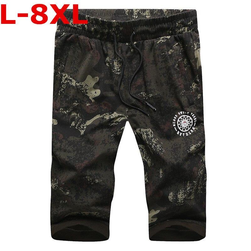 2018 grande taille 8XL 7XL 10XL nouvelle marque de mode été hommes Shorts droite au genou longueur Shorts plage shorts hommes shorts de bord