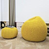 Modern Handmade European Style Lazy Bean Bag Sofa Children's Chair Living Room Single Puff Sofa Tatami Home Decoration 3